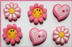 6 x Flower & Hearts Charms